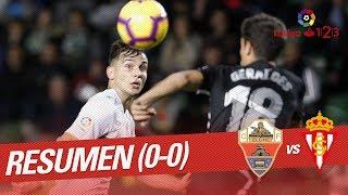 Resumen de Elche CF vs Real Sporting (0-0)