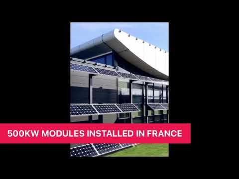 500KW Solar Modules form Powitt Solar installed in France in 2012