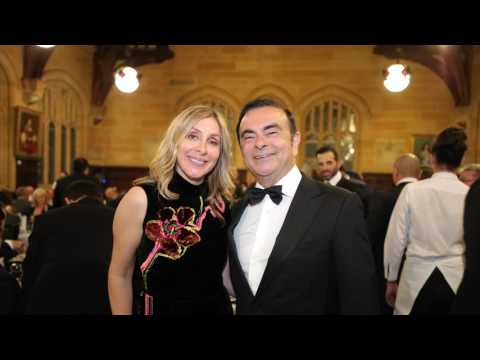 Carlos Ghosn and Carole Ghosn fly on private jet to Sydney for the ALF 2017 Event