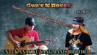 ASTAGAAA.!!!! LAGU SUSAH INI PUN DI LIBAASS Alip_Ba_Ta (Guns N Roses)
