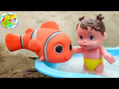 Dinosaurus Lucu, Ikan Badut Nemo Dan Sabun Mandi Bayi - G278C ToyTV Mainan Bayi