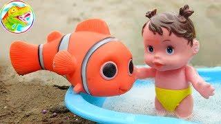 Khủng long vui nhộn, cá hề nemo và em bé đi tắm xà bông - đồ chơi trẻ em G278C ToyTV