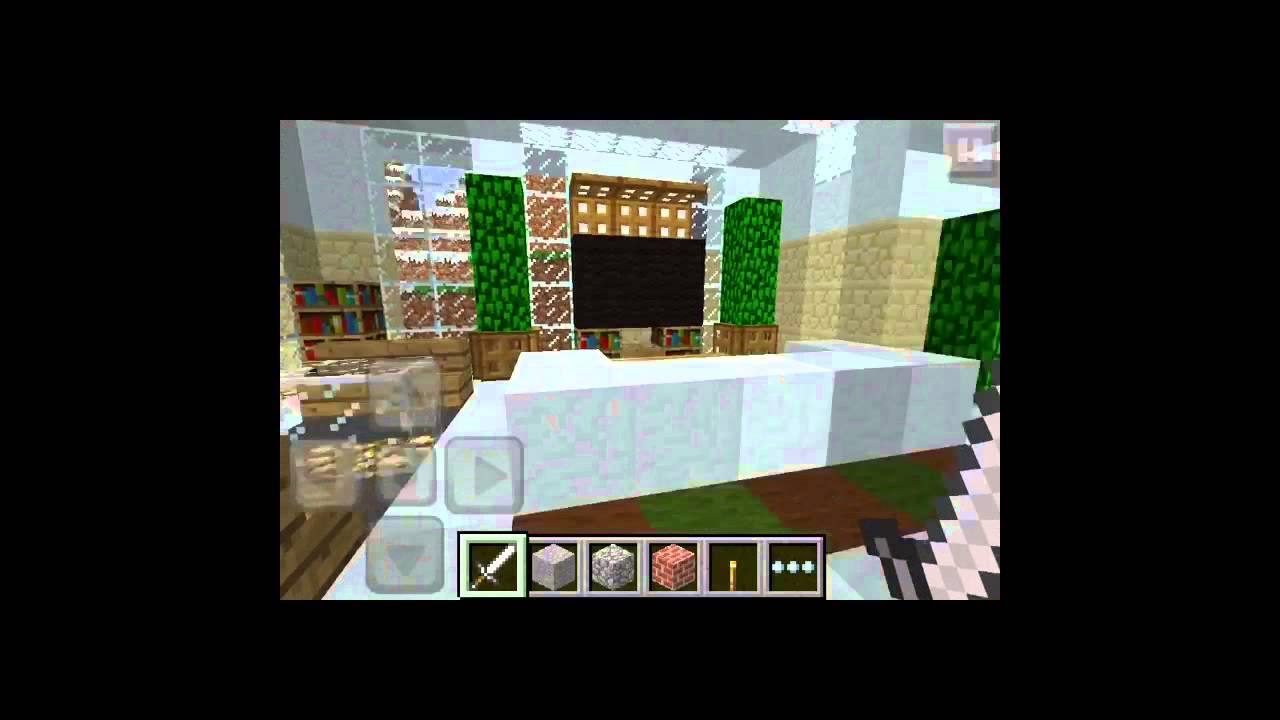 Minecraft pe modern house by keralis youtube for Modern house minecraft pe