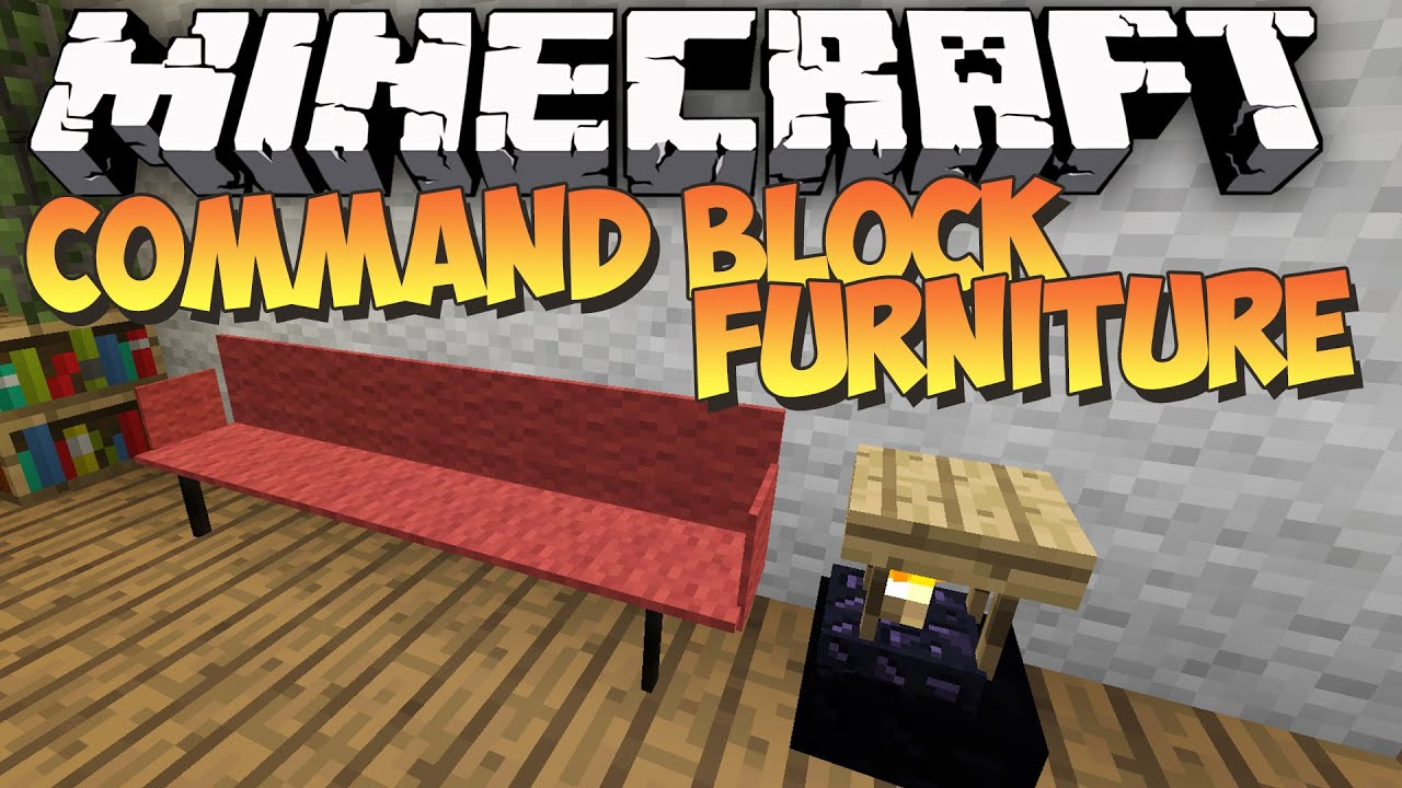 Minecraft - COMMAND BLOCK FURNITURE - No Mod Showcase