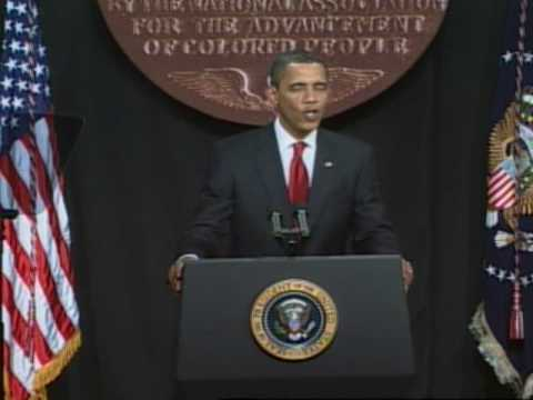 President Barack Obama addresses the 2009 NAACP Convention