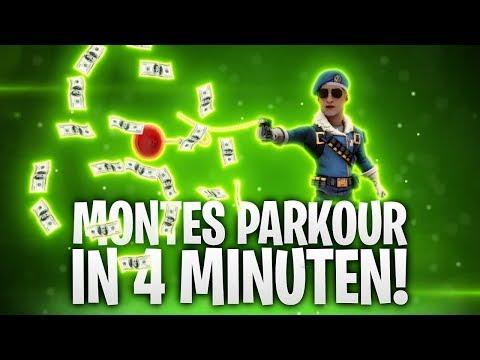 MONTES PARKOUR IN 4 MINUTEN GESCHAFFT! 🔥 | Fortnite: Battle Royale