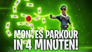 MONTES PARKOUR IN 4 MINUTEN GESCHAFFT! 🔥 | Fortnite: Battle Royale