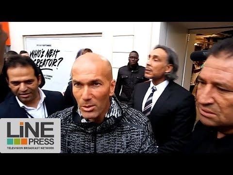 Ambiance. Zinédine Zidane chez un équipementier parisien / Paris - France 05 septembre 2017