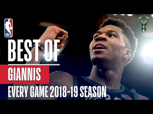 Giannis Antetokounmpos Best Play From Every Game Of The 2018-19 Season!