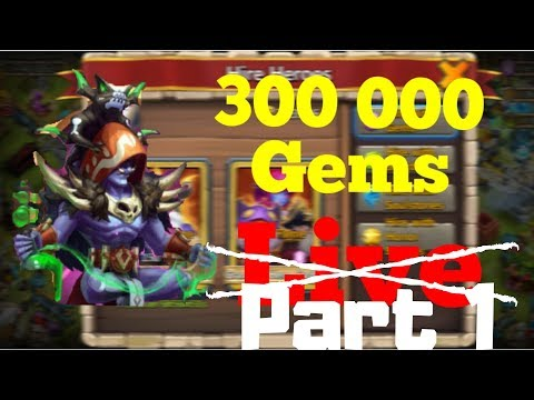 Rolling 300K Gems | Occultist | Castle Clash | Part 1