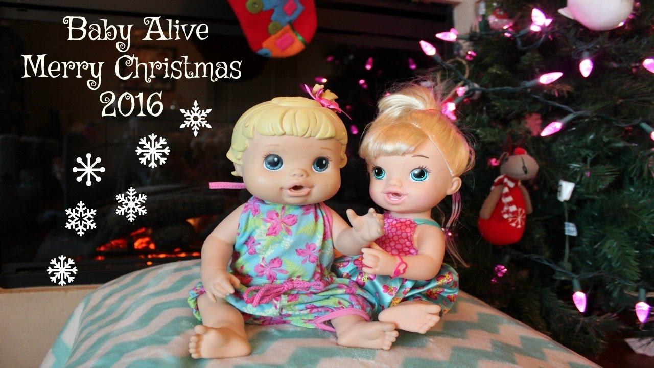 Baby Alive Bailey Brianna Christmas Eve Video *Merry Christmas ...