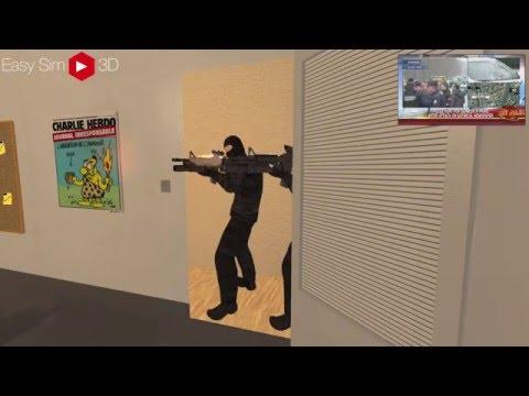 Terrorist Attack CHARLIE HEBDO - FRANCE - 2015/11/13 - EASY SIM 3D®