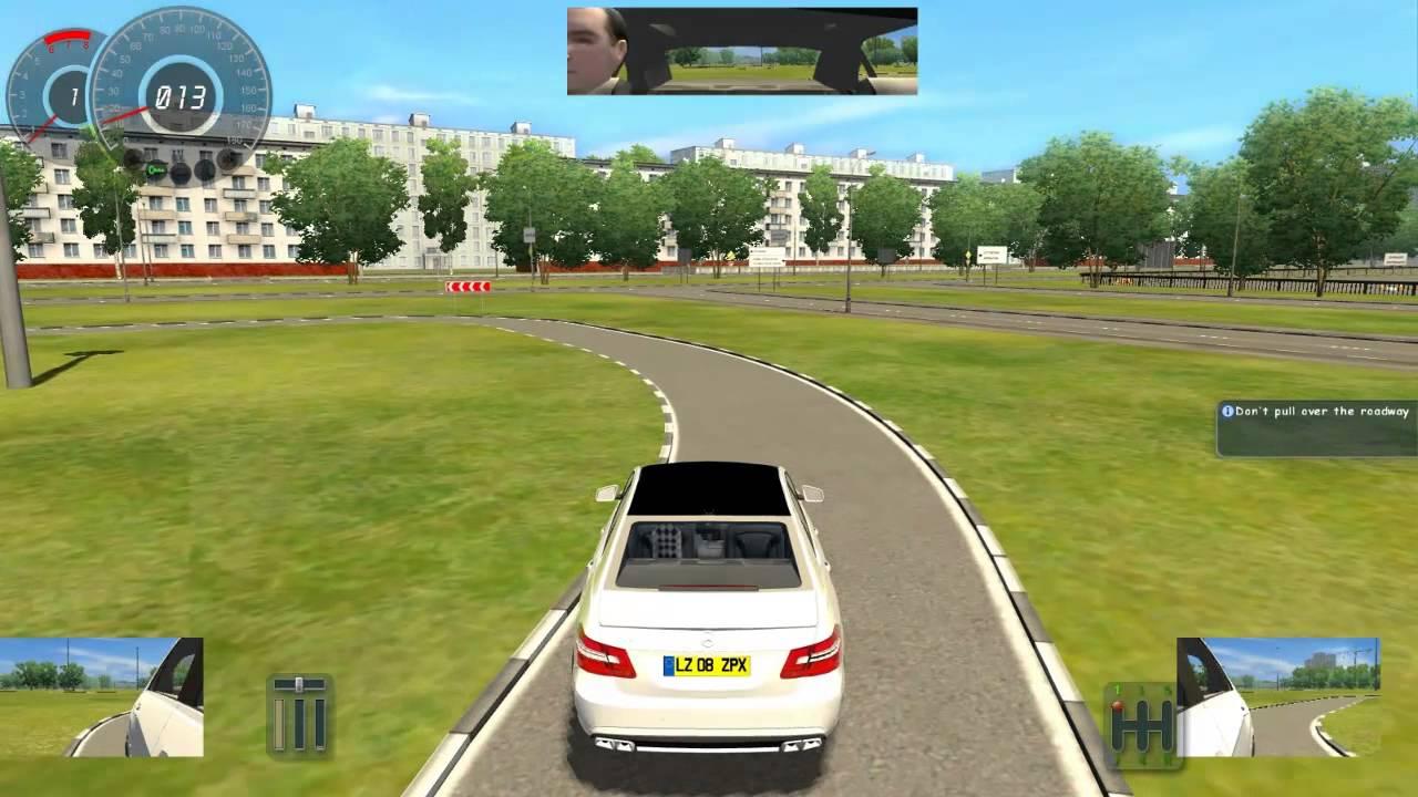 City Car Driving Test Track Mercedece Benz