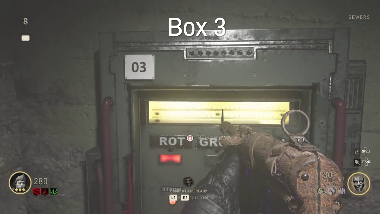 Call Of Duty Ww2 Zombies All Fuse Box Locations Youtube Doors