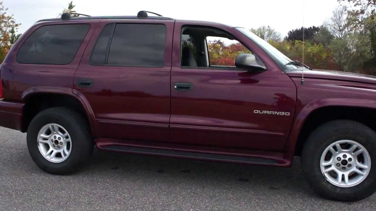 sold 2001 dodge durango for sale magnum v8 running boards low miles youtube