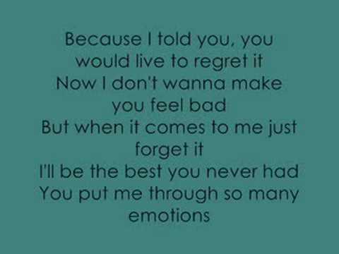 Leona Lewis- The Best You Never Had Lyrics
