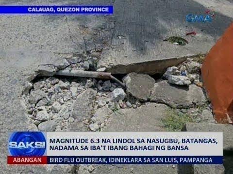 Saksi: Magnitude 6.3 na lindol sa Nasugbu, Batangas, nadama sa iba't ibang bahagi ng bansa