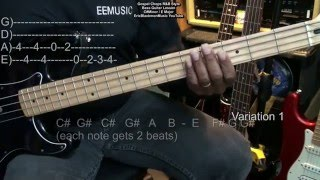 Gospel Chops Bass Guitar Lesson Play Along  With LaChaz Holloway NazarethCityLimits