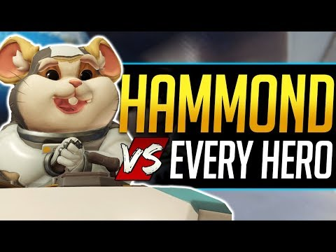 Overwatch HAMMOND vs Every Hero - Wrecking Ball - All Counters, Strengths, & Weaknesses