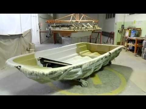 видео как сделать лодку из стекловолокна