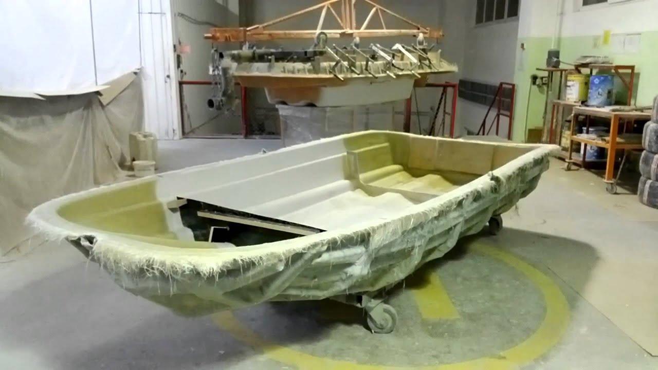 Самодельная стеклопластиковой лодки 8