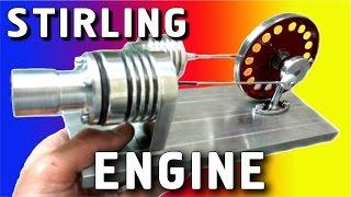 ГЕНЕРАТОР ЭЛЕКТРИЧЕСТВА САМОДЕЛЬНЫЙ ДВИГАТЕЛЬ СТИРЛИНГА  STIRLING ENGINE ( ИГОРЬ БЕЛЕЦКИЙ )(Это двигатель Стирлинга с генератором. Двигатель внешнего сгорания(нагрева). С помощью этого двигателя,..., 2010-12-21T12:24:51.000Z)