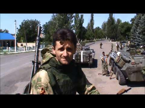 Ополченцы с участием подразделения Моторолы идут к границе с Россией