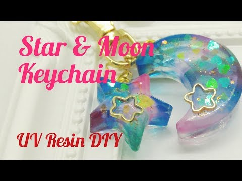 UV Resin DIY Star & Moon Keychain