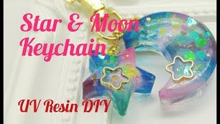 UV Resin DIY Star & Moon Keychain