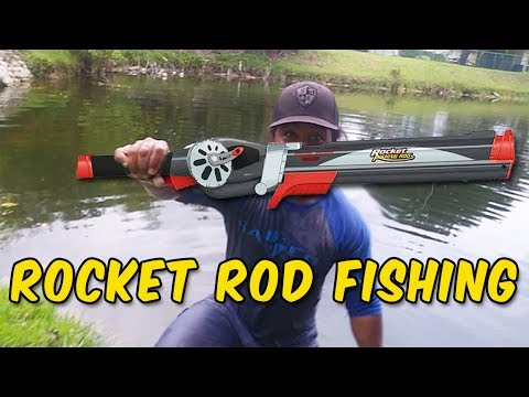 Rocket Fishing Rod Catches BIG FISH!!!