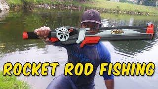 Rocket Fishing Rod Catches BIG FISH!!!
