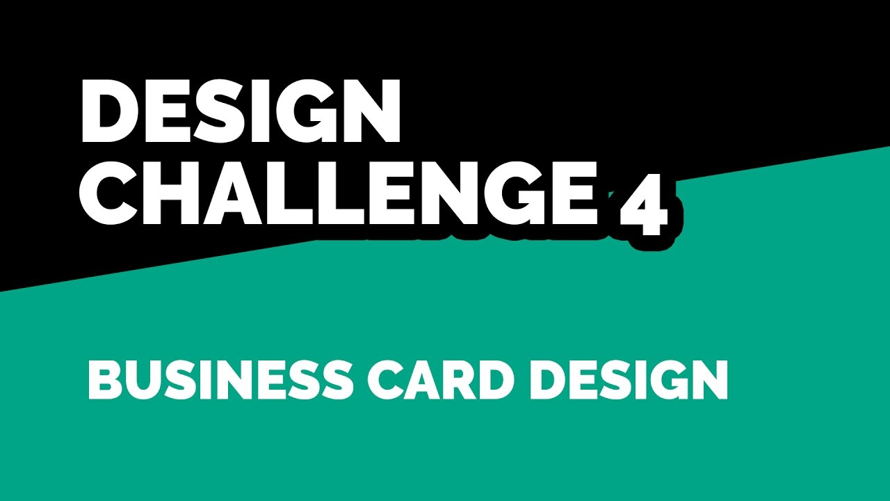 Design Challenge 4 - Design a Business Card for a Freelance Designer ...