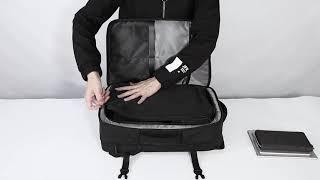 티오코리아 R101 남자 확장형 비지니스 여행용 백팩입…