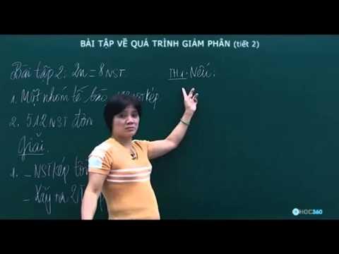 Sinh Học   Bài tập về quá trình giảm phân  tiết 2 )