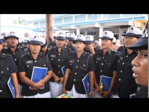 fiji police force celebrate graduation youtube