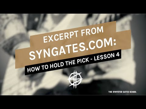 how-to-hold-the-guitar-pick---lesson-4---syngates.com