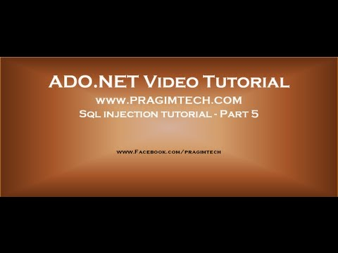 Sql Injection Tutorial - Part 5