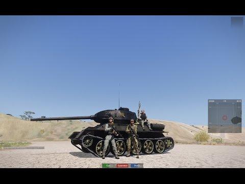 """Ивент """"танковый биатлон"""". Приз второй команде, верт с пулемётами."""