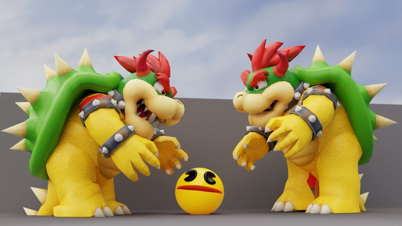 Pacman Vs Bowser (Level 5000 : Super Mario lands)