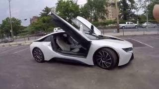 Мини обзор BMW i8 снаружи и внутри. 360 вокруг машины(Мини обзор BMW i8 снаружи и изнутр. 360 вокруг машины., 2016-06-12T06:57:34.000Z)