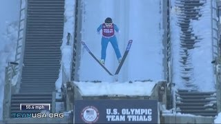 Jerome Jumps Into Olympic History | 2014  U.S. Olympic Trials Ski Jumping