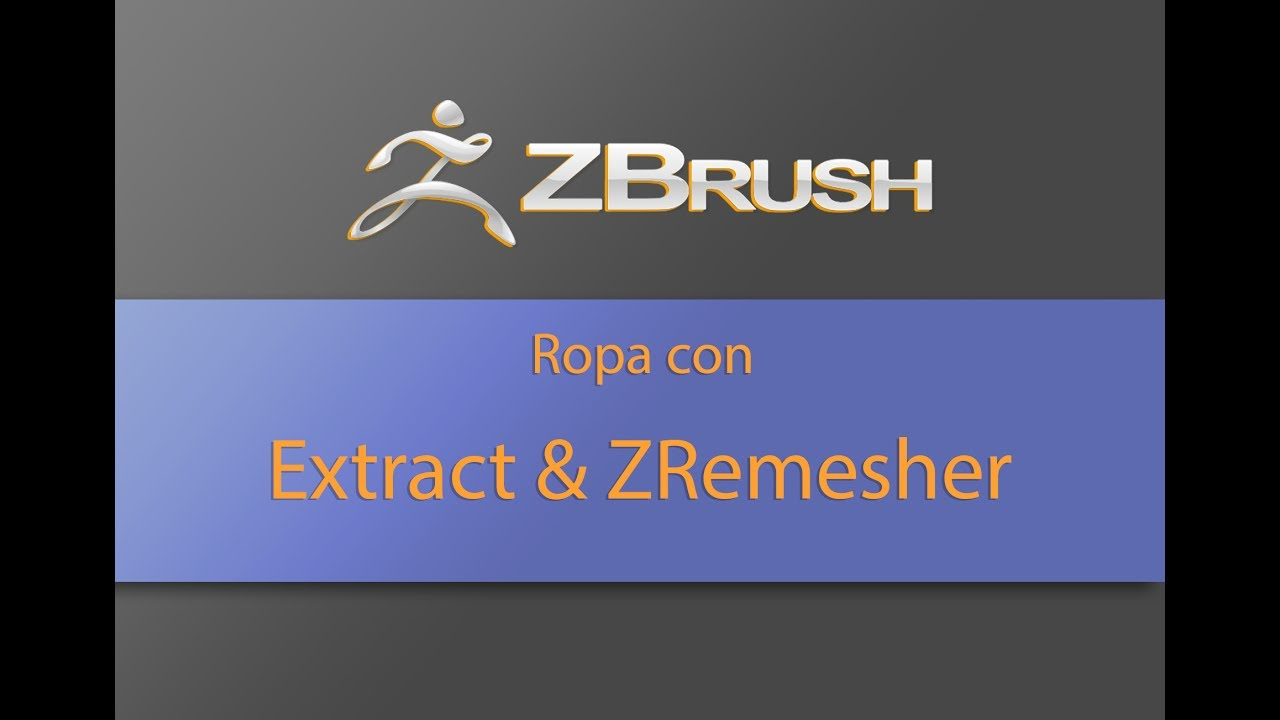 ZBRUSH - Ropa con Extract y ZRemesher
