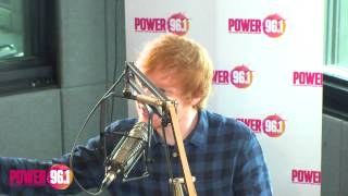 "Ed Sheeran raps about ATL + does his ""Yankee Ed"" impression!"