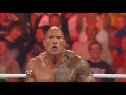 WWE - The Rock saves John cena in St. Louis
