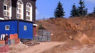 Строительство на Угрешской улице.