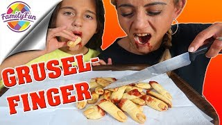 HALLOWEEN BLUTIGER GRUSELFINGER - Partyfood gruseliger DIY Snack - Family Fun