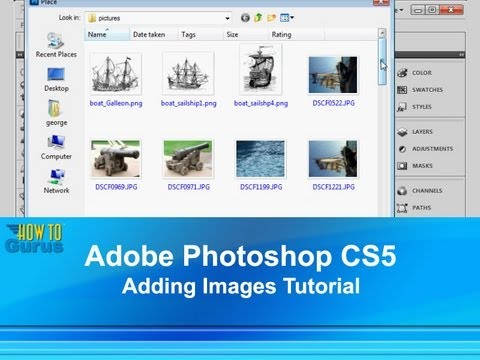 how to put an image in photoshop cs5