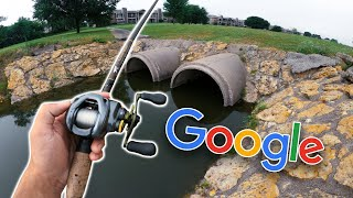 GOOGLE MAPS Challenge In URBAN Texas -- (Pond Hopping Mission)
