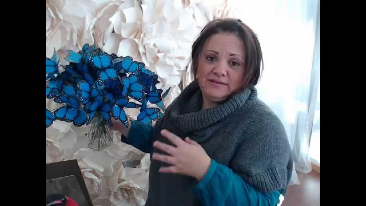 Cortinas Flores Azul