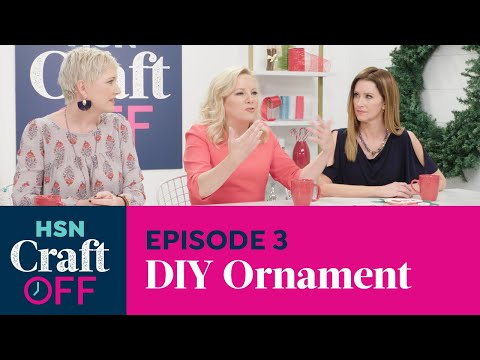 DIY ORNAMENT CHALLENGE | Cricut Maker Cutting Machine | HSN Craft Off